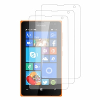 Microsoft Nokia Lumia 435/ 435 Dual SIM: Lot / Pack de 3x Films de protection d'écran clear transparent