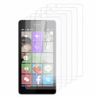 Microsoft Nokia Lumia 540 Dual SIM: Lot / Pack de 5x Films de protection d'écran clear transparent