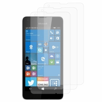 Microsoft Nokia Lumia 550: Lot / Pack de 3x Films de protection d'écran clear transparent