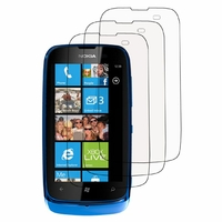 Nokia Lumia 610/ 610 NFC/ RM-835: Lot / Pack de 3x Films de protection d'écran clear transparent