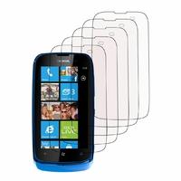 Nokia Lumia 610/ 610 NFC/ RM-835: Lot / Pack de 5x Films de protection d'écran clear transparent