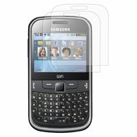 Samsung Ch@t 335/ Samsung Chat S3350: Lot / Pack de 2x Films de protection d'écran clear transparent