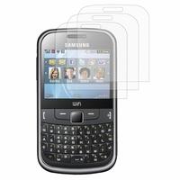 Samsung Ch@t 335/ Samsung Chat S3350: Lot / Pack de 3x Films de protection d'écran clear transparent