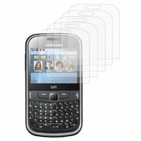 Samsung Ch@t 335/ Samsung Chat S3350: Lot / Pack de 5x Films de protection d'écran clear transparent
