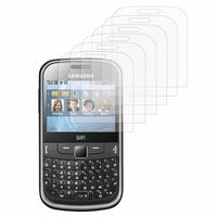 Samsung Ch@t 335/ Samsung Chat S3350: Lot / Pack de 6x Films de protection d'écran clear transparent