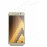 "Samsung Galaxy A5 (2017) 5.2"" A520F/ A5 (2017) Duos (non compatible Version 2014/ 2015/ 2016): Lot / Pack de 5x Films de protection d'écran clear transparent"