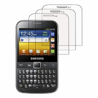 Samsung Galaxy Y Pro B5510/ B5512 Duos/ Txt: Lot / Pack de 3x Films de protection d'écran clear transparent