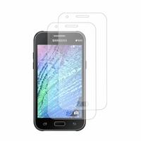 Samsung Galaxy J1/ J1 4G SM-J100F J100FN J100H/DD J100H/DS J100MU (non compatible Galaxy J1 (2016)): Lot / Pack de 2x Films de protection d'écran clear transparent