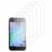 Samsung Galaxy J1/ J1 4G SM-J100F J100FN J100H/DD J100H/DS J100MU (non compatible Galaxy J1 (2016)): Lot / Pack de 5x Films de protection d'écran clear transparent
