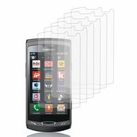 Samsung Wave 2 S8530: Lot / Pack de 6x Films de protection d'écran clear transparent