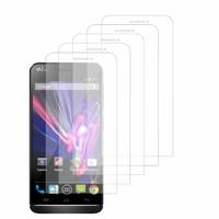 Wiko Wax/ Wax 4G: Lot / Pack de 5x Films de protection d'écran clear transparent