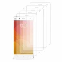 Xiaomi Mi 4/ Mi 4 LTE (non compatible Xiaomi Mi 4i/ Mi 4c): Lot / Pack de 5x Films de protection d'écran clear transparent