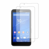 Sony Xperia E4 E2104 E2105/ E4 Dual E2114 E2115 E2124 (non compatible Xperia E4g): Lot / Pack de 2x Films de protection d'écran clear transparent