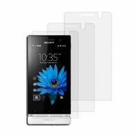 Sony Xperia U St25i Kumquat: Lot / Pack de 3x Films de protection d'écran clear transparent