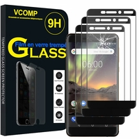 "Nokia 6 (2018)/ Nokia 6.1 5.5"" (non compatible Nokia 6 (2017)): Lot / Pack de 3 Films de protection d'écran Verre Trempé"