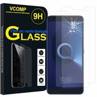 "Alcatel 3V 6.0"" [Les Dimensions EXACTES du telephone: 162 x 76 x 8.1 mm]: Lot / Pack de 2 Films de protection d'écran Verre Trempé"