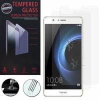 """Huawei Honor V8 5.7"""" (non compatible Honor 8): Lot / Pack de 2 Films de protection d'écran Verre Trempé"""