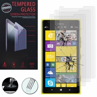 Nokia Lumia 1520/ RM-937/ RM-938/ RM-939/ RM-940: Lot / Pack de 3 Films de protection d'écran Verre Trempé