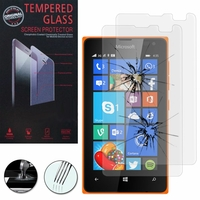 Microsoft Nokia Lumia 435/ 435 Dual SIM: Lot / Pack de 2 Films de protection d'écran Verre Trempé