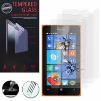 Microsoft Nokia Lumia 435/ 435 Dual SIM: Lot / Pack de 3 Films de protection d'écran Verre Trempé