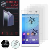 Sony Xperia C4/ C4 Dual E5303 E5306 E5353 E5333 E5343 E5363: Lot / Pack de 3 Films de protection d'écran Verre Trempé