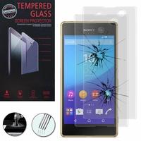 Sony Xperia M5/ M5 Dual E5603 E5606 E5653 E5633 E5643 E5663: Lot / Pack de 2 Films de protection d'écran Verre Trempé