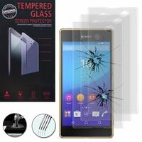 Sony Xperia M5/ M5 Dual E5603 E5606 E5653 E5633 E5643 E5663: Lot / Pack de 3 Films de protection d'écran Verre Trempé