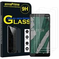 """Nokia 1 Plus (2019) 5.45"""" (non compatible Nokia 1 4.5"""") [Les Dimensions EXACTES du telephone: 145 x 70.4 x 8.6 mm]: Lot / Pack de 3 Films de protection d'écran Verre Trempé"""