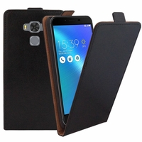 "Asus Zenfone 3 Max ZC553KL 5.5"": Etui Rabattable Verticale en cuir PU - NOIR"