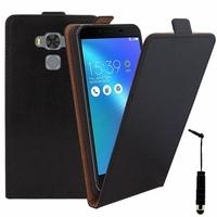 "Asus Zenfone 3 Max ZC553KL 5.5"": Etui Rabattable Verticale en cuir PU + mini Stylet - NOIR"