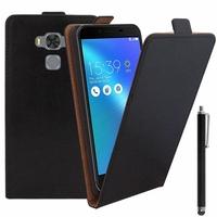 "Asus Zenfone 3 Max ZC553KL 5.5"": Etui Rabattable Verticale en cuir PU + Stylet - NOIR"
