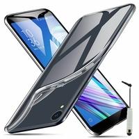 """Asus ZenFone Live (L1) ZA550KL 5.5""""/ ASUS_X00RD (non compatible Zenfone Live ZB501KL 5.0""""): Coque Silicone gel UltraSlim et Ajustement parfait + mini Stylet - TRANSPARENT"""