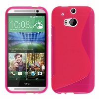 HTC One (M8)/ One M8s/ Dual Sim/ (M8) Eye/ M8 For Windows/ HTC Butterfly 2: Coque silicone Gel motif S au dos - ROSE