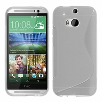 HTC One (M8)/ One M8s/ Dual Sim/ (M8) Eye/ M8 For Windows/ HTC Butterfly 2: Coque silicone Gel motif S au dos - TRANSPARENT