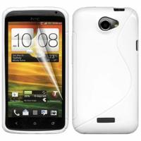 HTC One X/ X+/ XL/ XT: Coque silicone Gel motif S au dos - BLANC