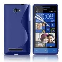 HTC Windows Phone 8S: Coque silicone Gel motif S au dos - BLEU