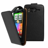 HTC Desire HD/ Ace G10: Etui Simili Cuir - NOIR