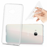 "HTC U Play 5.2""/ HTC Alpine: Coque Silicone gel UltraSlim et Ajustement parfait - TRANSPARENT"