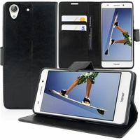 "Huawei Honor 5A/ Huawei Y6 II 5.5"": Etui portefeuille Support Video cuir PU - NOIR"