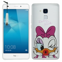 Huawei Honor 5c/ Honor 7 Lite/ Huawei GT3: Coque silicone Ultra-Fine Dessin animé jolie + mini Stylet - Daisy Duck