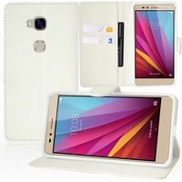 Huawei Honor 5X/ Honor X5/ Huawei GR5: Etui portefeuille Support Video cuir PU - BLANC
