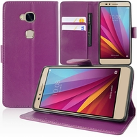 Huawei Honor 5X/ Honor X5/ Huawei GR5: Etui portefeuille Support Video cuir PU - VIOLET