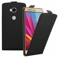 Huawei Honor 5X/ Honor X5/ Huawei GR5: Etui Rabattable Verticale en cuir PU - NOIR