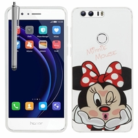 "Huawei Honor 8 5.2"" (non compatible Honor V8): Coque silicone Ultra-Fine Dessin animé jolie + Stylet - Minnie Mouse"