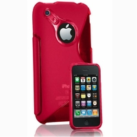 Apple iPhone 3G/ 3GS: Coque silicone Gel motif S au dos - ROSE