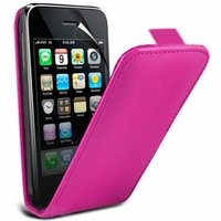 Apple iPhone 3G/ 3GS: Etui Rabattable Verticale en cuir PU - ROSE