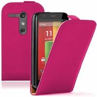Motorola Moto G X1032/ Forte/ Grip Shell/ LTE 4G: Etui Rabattable Verticale en cuir PU - ROSE