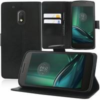 "Motorola Moto G4 Play 5.0"": Etui portefeuille Support Video cuir PU - NOIR"