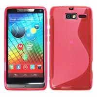Motorola Razr i XT890: Coque silicone Gel motif S au dos - ROSE