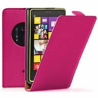 Nokia Lumia 1020/ EOS/ 909/ RM-875/ RM-877/ RM-876: Etui Rabattable Verticale en cuir PU - ROSE